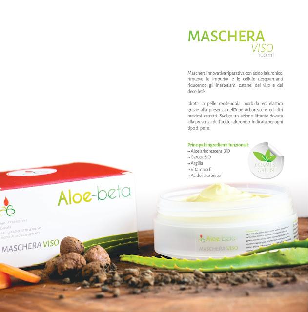 Maschera viso Aloe-beta Aloe Arborescens