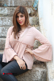 Telugu Actress Aditi Singh Stills in Leather Pants at Nenu Kidnap Iyanu Movie Press Meet  0190.JPG