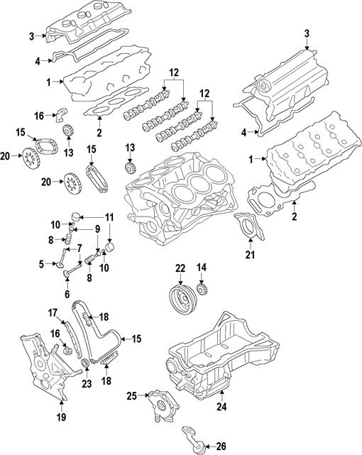 Parts Diagrams  Ford Taurus 2009 Engine Parts Component