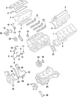 Parts Diagrams - Ford Taurus 2009 Engine Parts Component