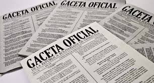 Gaceta Oficial N° 41.529 de fecha 21 de noviembre de 2018