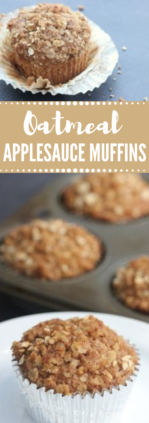 OATMEAL APPLESAUCE MUFFINS #dessert #cake #lasagna #maknyus #muffins