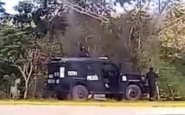 Video: Con blindado Policías se enfrentan contra Sicarios matando a 2