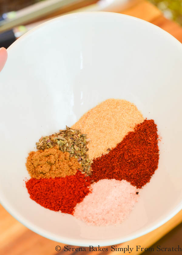 Chili Powder, Salt, Granulated Garlic, Oregano, Smoked Paprika, Cumin spice rub for chuck roast.
