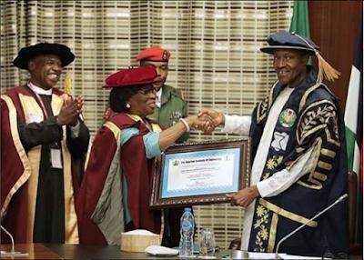 Nigerian Academy of Engineers has decorated President Muhammadu Buhar