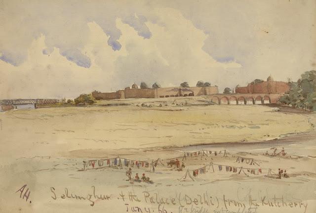 Salimgarh fort built by Salim Shah Suri