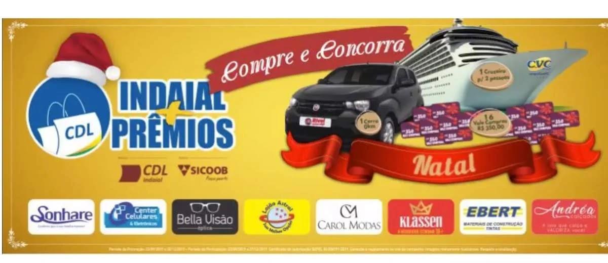 Promoção Natal 2019 CDL Indaial - Carro, Cruzeiro 2 Pessoas e Vales-Compras
