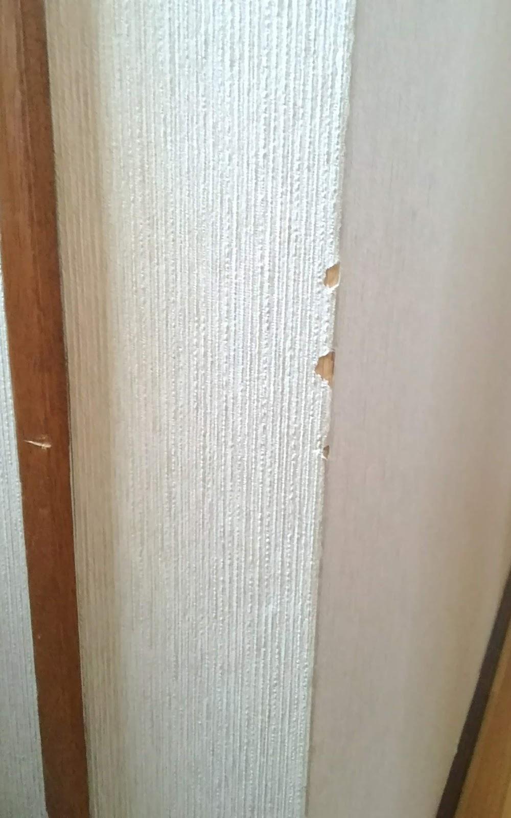 Diy 壁紙の角部の破れの補修ーl字アングルで手軽に補修