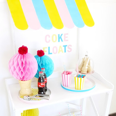 DIY Ice Cream Stand Awning for Your Party