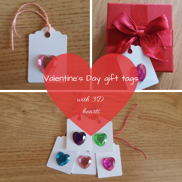 Valentine's Day gift tags with 3D hearts