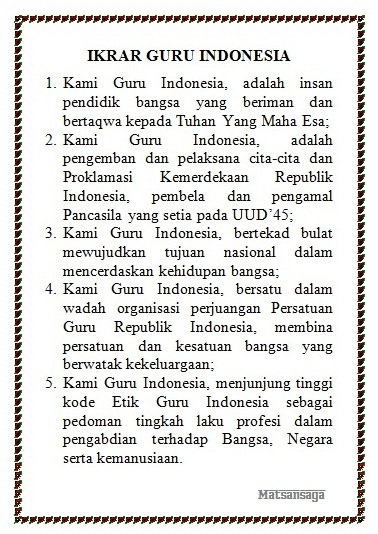Ikrar Gruru Republik Indonesia