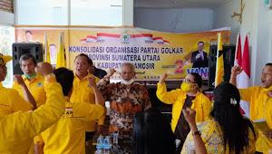 Konsolidasi, Partai Golkar Tekad Menangkan VANTAS di Samosir