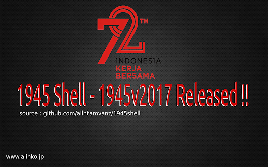 1945v2017 released ! 72th indonesian Independence (1945 shell)