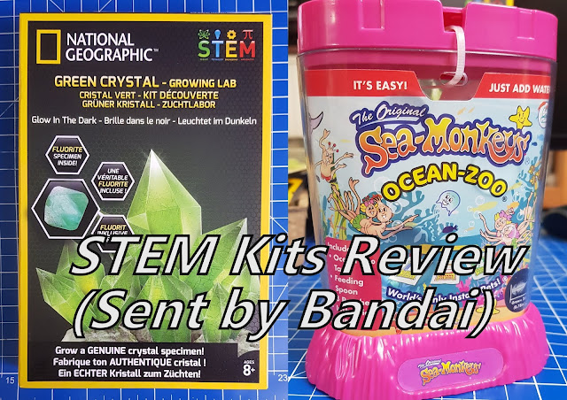 Bandai STEM Kits - Glowing Crystals and Sea Monkeys packs