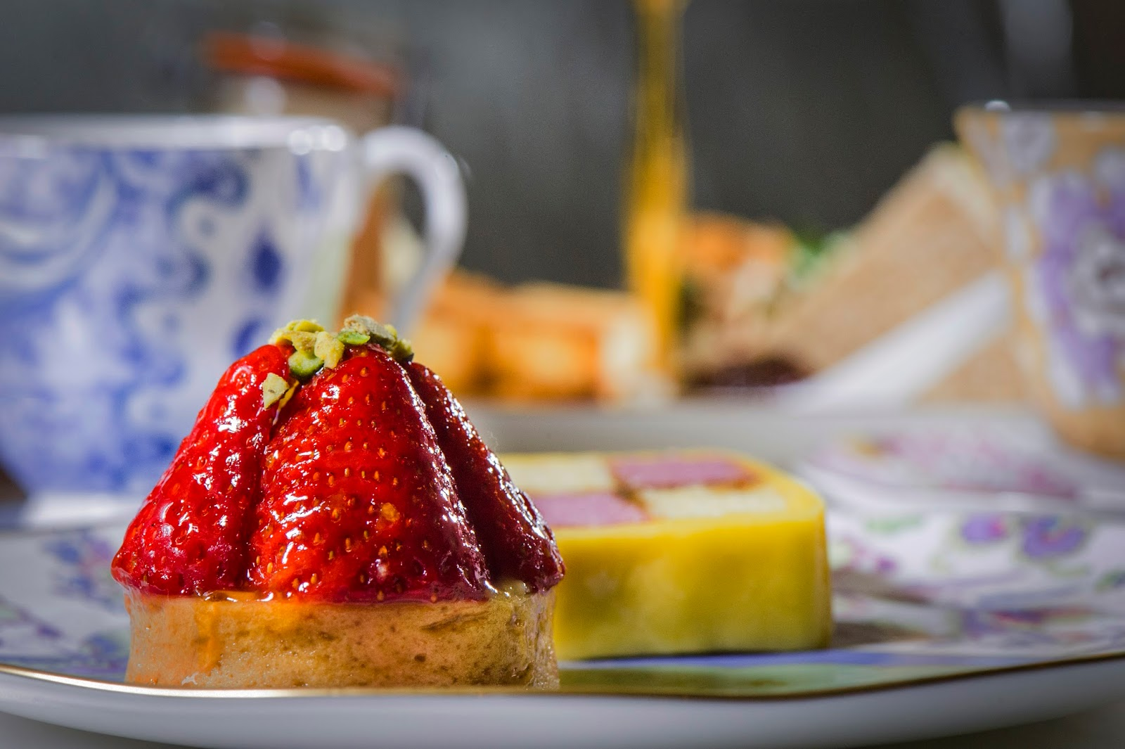 ways to enjoy strawberries - a strawberry dessert on a china plate