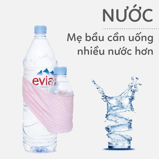 Hướng dẫn Mẹ Bầu uống Nước đúng cách