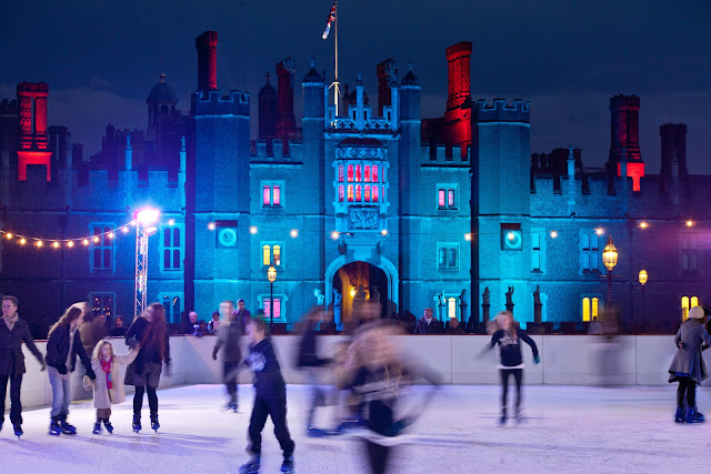 Imagine skating at this fairy-tale castle's courtly rink surrounded by a magical kingdom of ice! Photo: Courtesy of HamptonCourtIceRink.com.