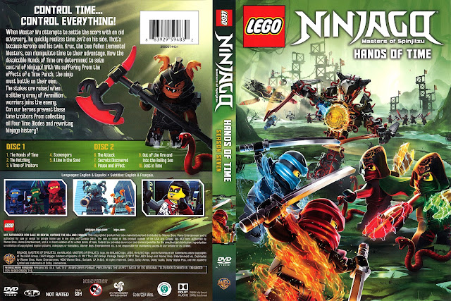 LEGO Ninjago Masters of Spinkitzu Season 7 Hands of Time DVD Cover