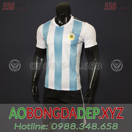 Áo Argentina 2019 Sân Nhà Màu Trắng Xanh Đẹp