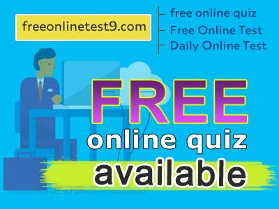 Online Quiz, Free Online Quiz, General Knowledge Quiz, Current Affairs Quiz