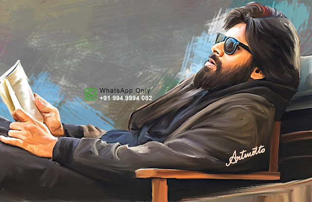 PowerStar Pawan Kalyan Digital Portrait Painting
