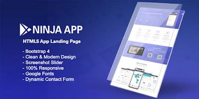 Ninja App v1.0 - App Landing Page HTML