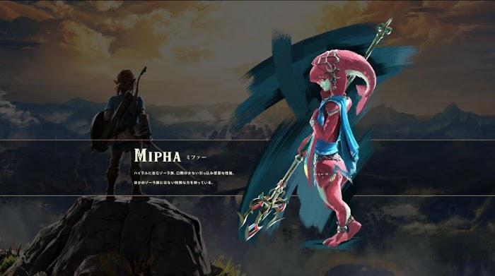 Mipha en The Legend of Zelda Breath of the Wild