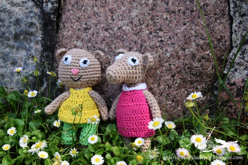 Florka i Klemens z bawełnianej włóczki