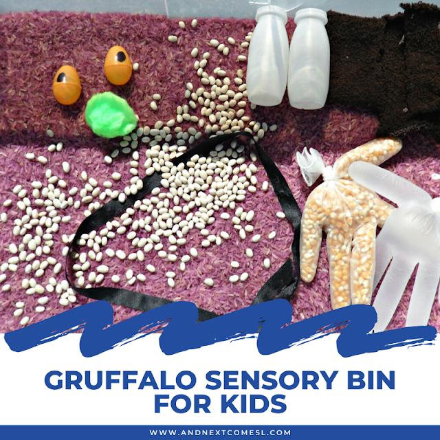 Gruffalo sensory bin