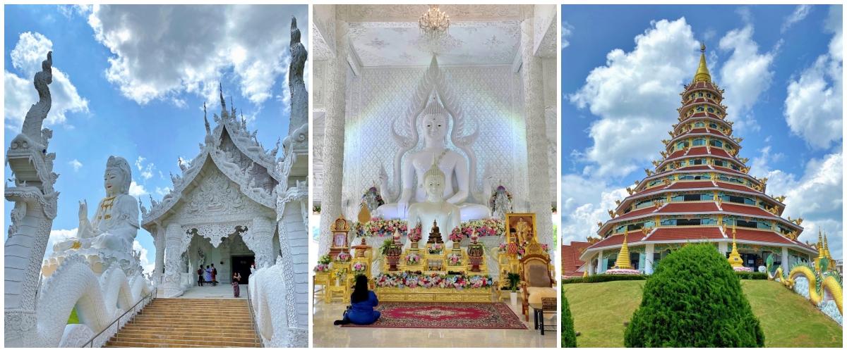 Wat Huai Pla Kang em Chiang Rai na Tailândia