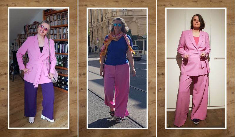 Oversized bossy girl suit kombiniert