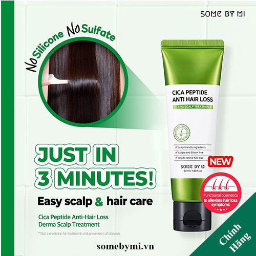 Dầu Xã SOME BY MI Cica Peptide Anti Hair Loss Derma Scalp Treatment