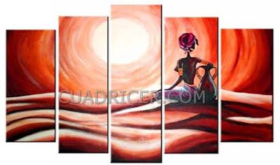 http://www.cuadricer.com/cuadros-pintados-a-mano-por-temas/cuadros-africanos/cuadros-adoracion-dioses-etnico-africano-calido-cremas-naranjas-2207.html
