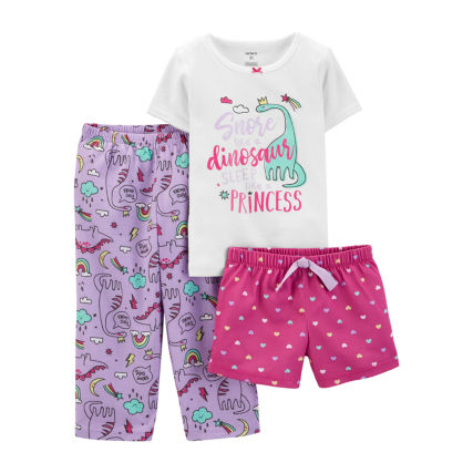 JCPENNEY - Carter's 3-pc. Pant Pajama Set Baby Girls