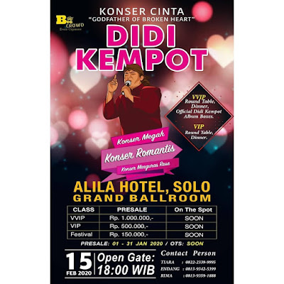 Konser Ambyar Didi Kempot Grand Ballroom Alila Hotel Solo