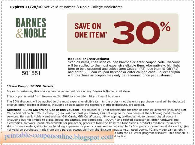 Barnes & Noble deals and discounts for 8/13/12222
