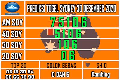 Bocoran Syair Sydney 30 Desember 2020