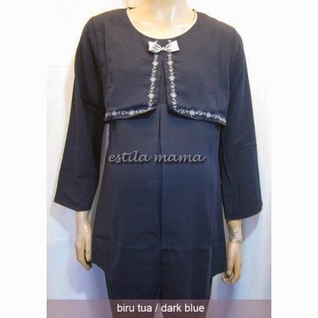 Gambar Desain Baju Muslim Hamil Kerja Paling Populer