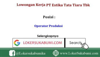 Lowongan Kerja Operator PT Estika Tata Tiara Tbk Via Email