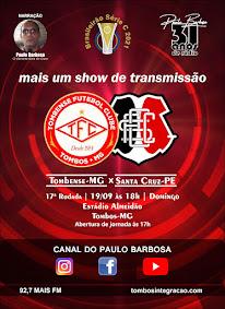 Canal do Paulo Barbosa, no  youtube, concorra a uma camisa oficial, SÓ CLICAR