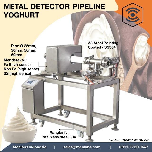 metal detector untuk yoghurt