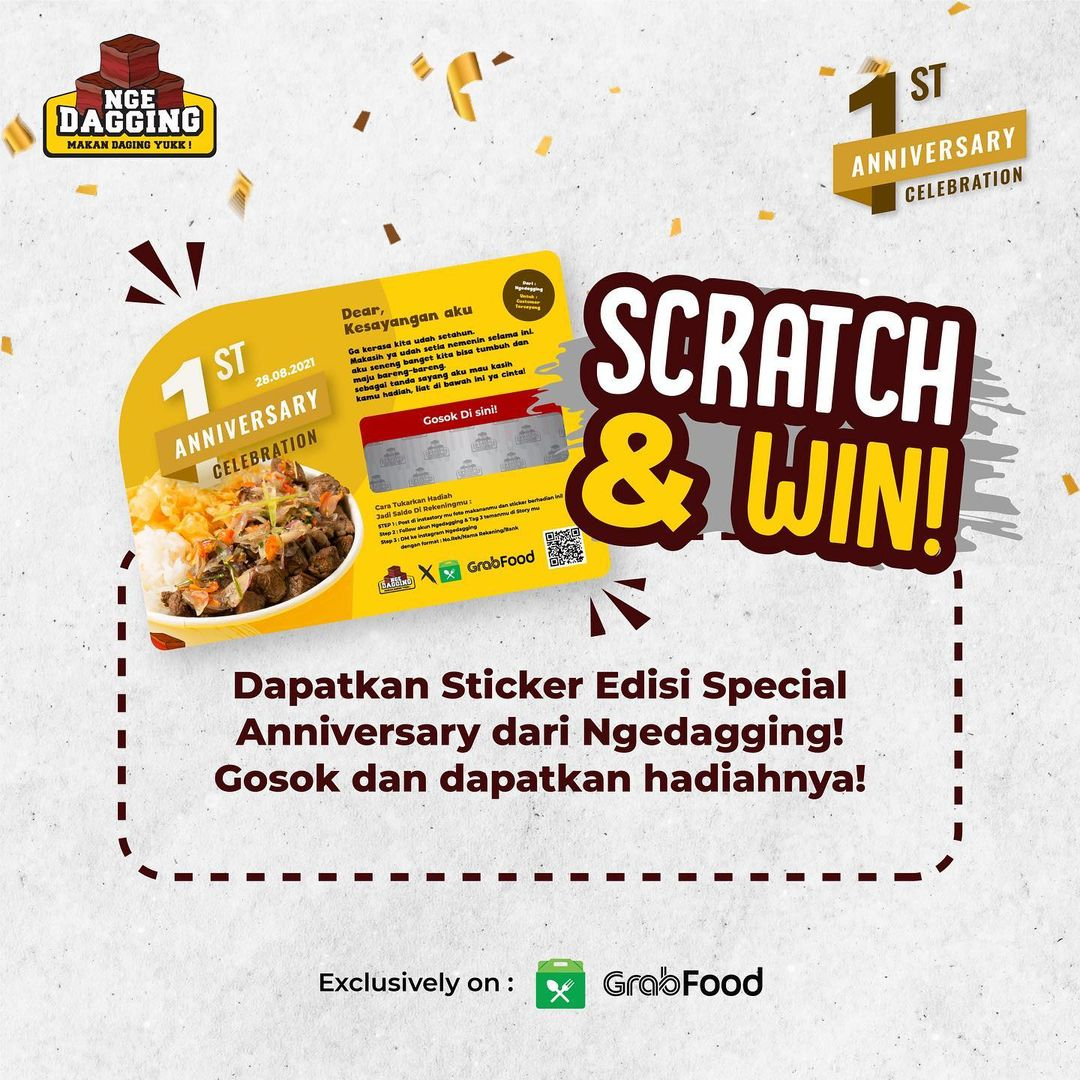 Promo NGEDAGGING Give Away 1st Anniversary 2