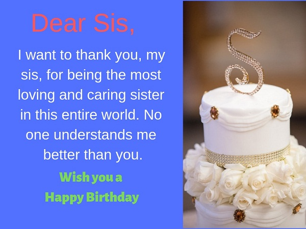Happy birthday wishes for elder sister