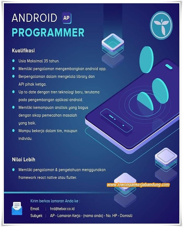 Loker Bandung Karyawan Android Programmer