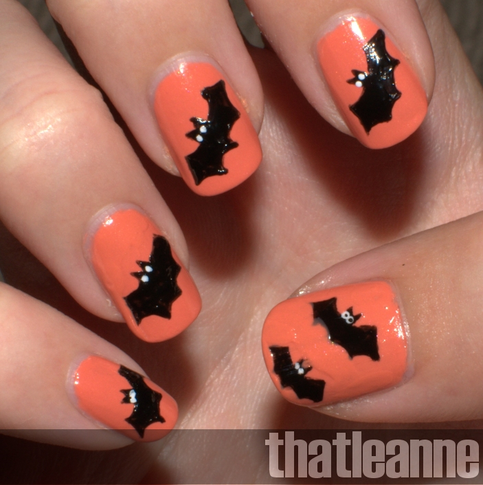 Simple Line Nail Art : Thatleanne simple halloween nail art ideas
