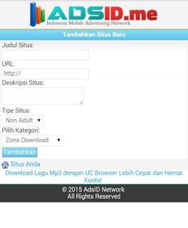 adsid 5ampg Cara mendapatkan Pulsa gratis dari Internet dengan AdsID.me