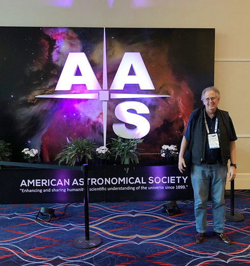 Attending meetings, like this AAS meeting, is not easy now (Source: Palmia Observatory)