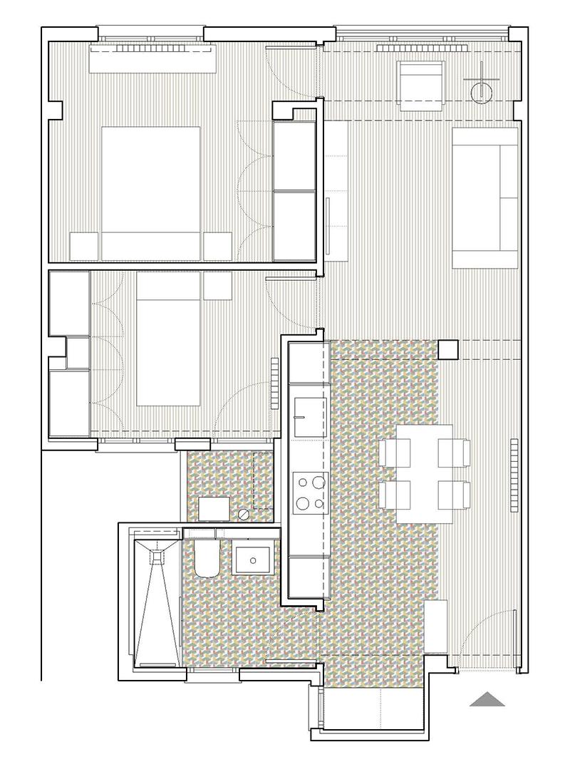 Reforma integral apartamento Russafa Valencia distribución