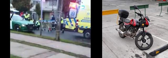 Osorno: Accidente entre motorista y peatón en Rahue Bajo
