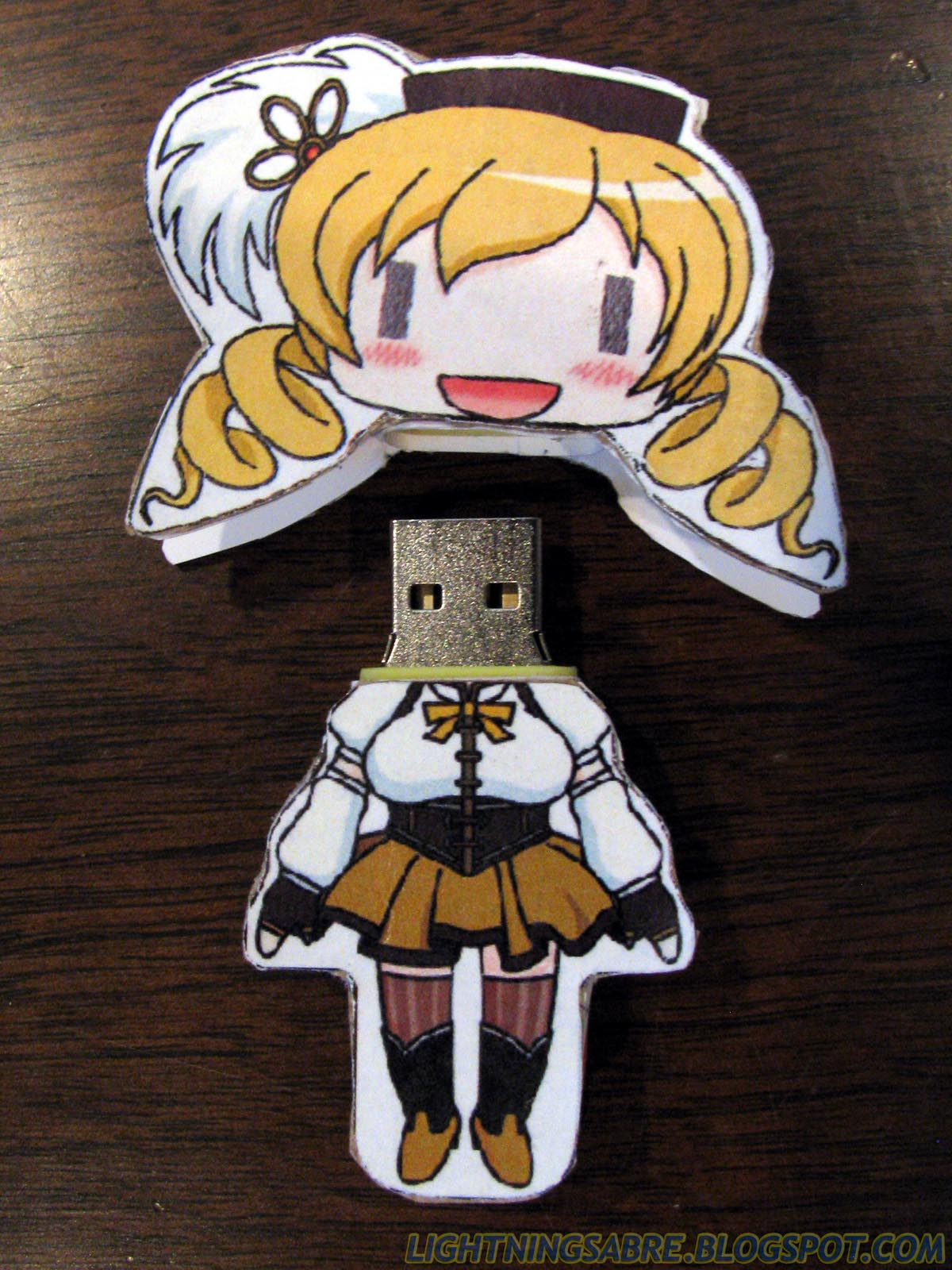 Within A Flash Of Lightning Tomoe Mami Usb Flash Drive